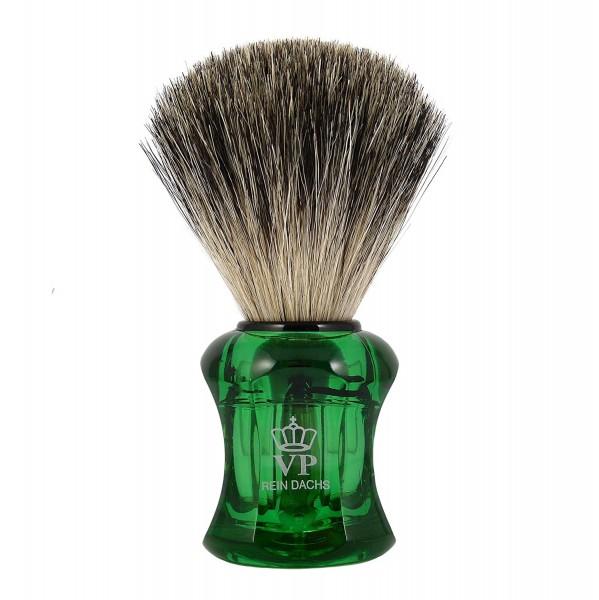 Rasierpinsel Royal VP - mit echtem, reinem Dachshaar - Griff grün